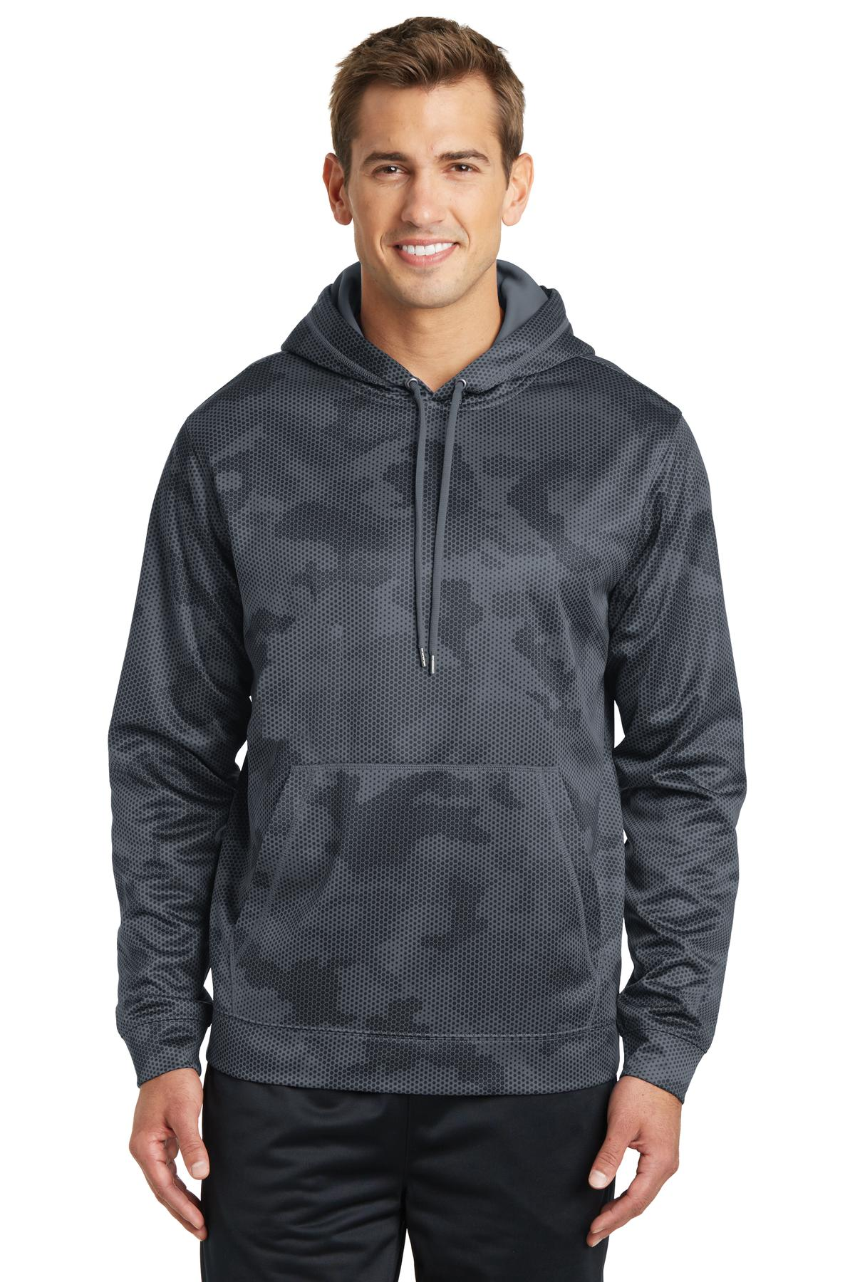 Sport-Tek  Sport-Wick  ST240 - CamoHex Fleece Hooded Pullover