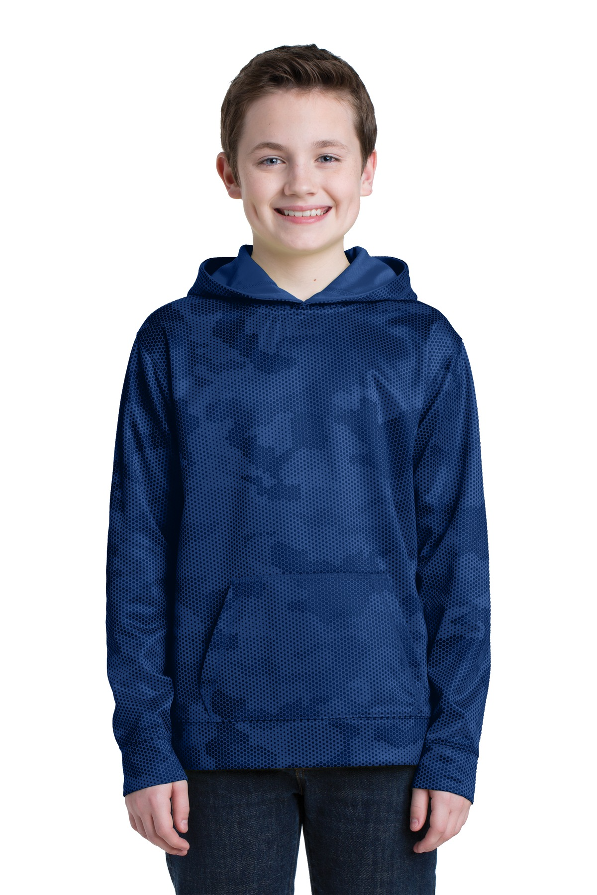 Sport-Tek  Youth Sport-Wick  YST240 - CamoHex Fleece Hooded Pullover