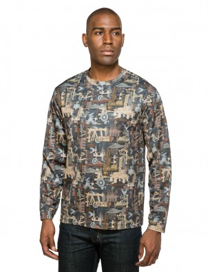 Tri-Mountain Performance 622C - Force Camo camouflage crewneck shirt