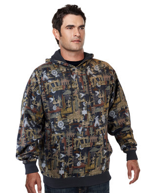 Tri-Mountain Performance 689C - Perspective Camo camouflage hoody