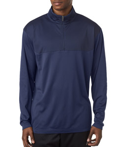 UltraClub 8233 - Adult Cool Dry Sport Color Block Quarter Zip Pullover