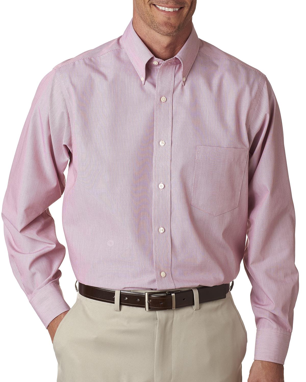 Van Heusen V0420 - Men's Long-Sleeve Non-Iron Feather Stripe Woven Shirt
