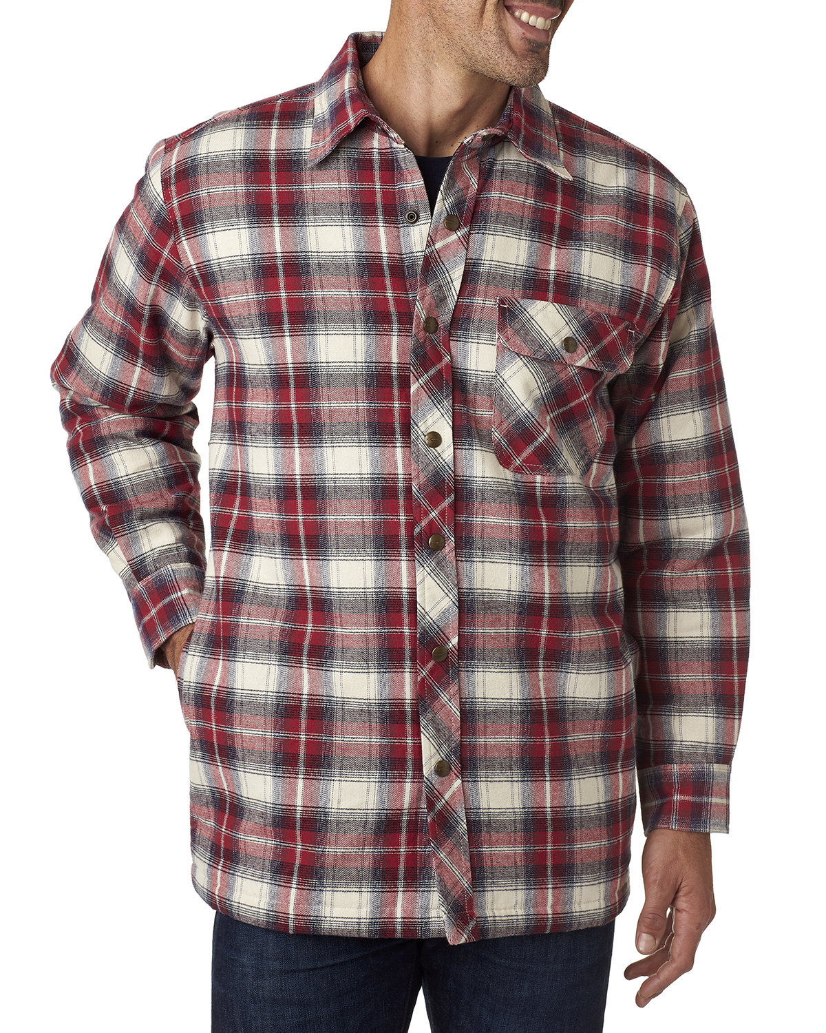 Backpacker BP7002 - Men's Flannel Shirt Jacket with Quilt Lining
