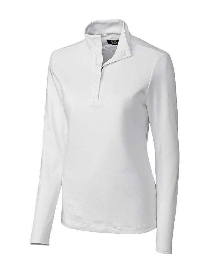 CUTTER & BUCK LCK02587 - Ladies' LS Belfair Pima Half zip