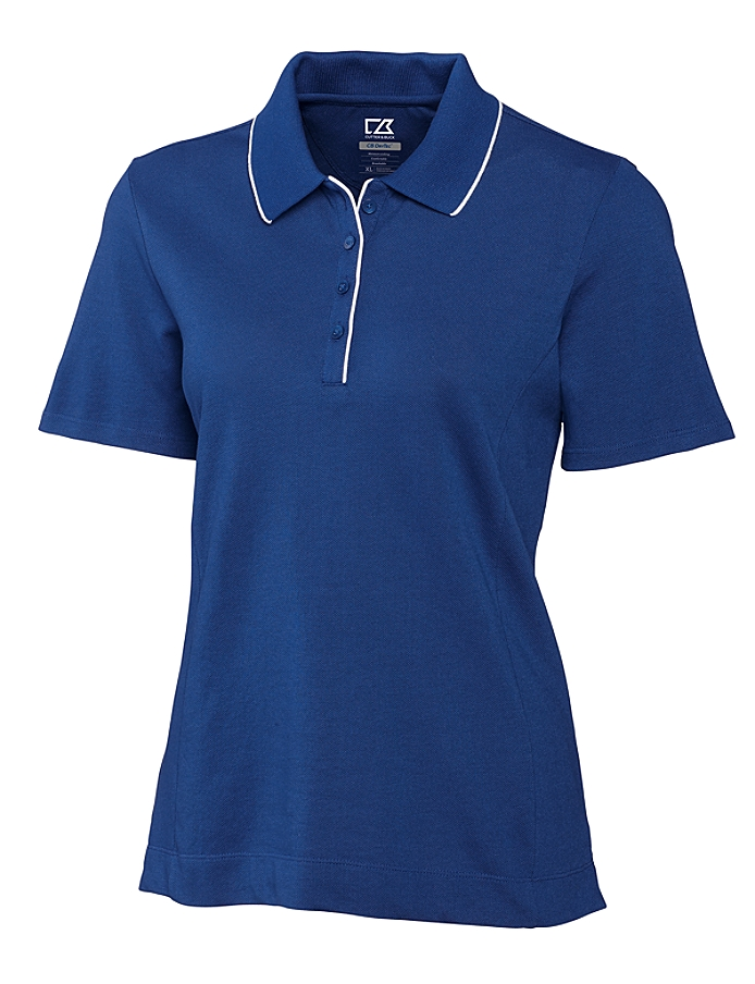 CUTTER & BUCK LCK08415 - Ladies' CB DryTec Cutter Tipped Polo