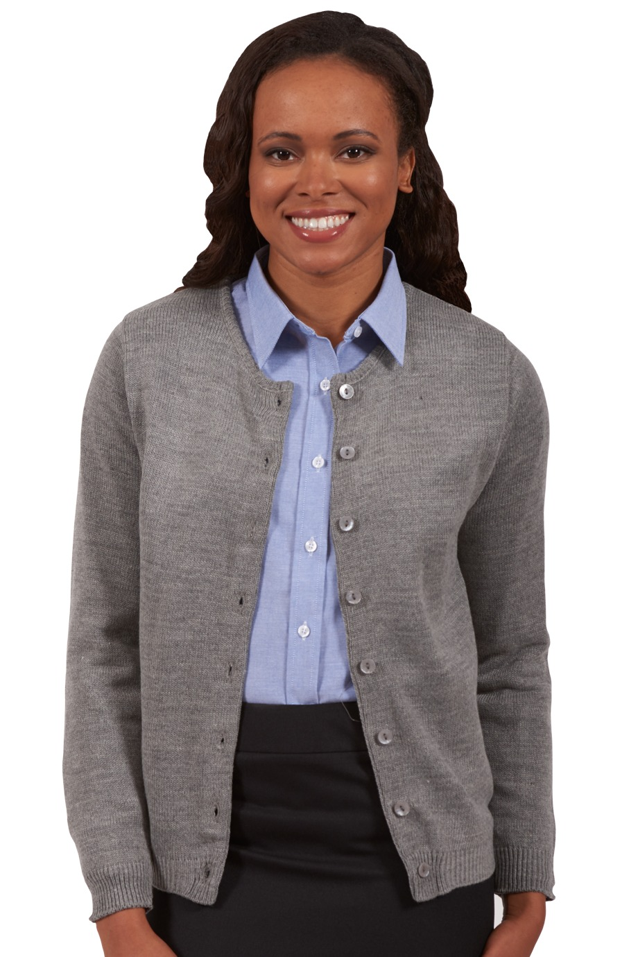 Edwards Garment 7061 - Drop Neck Acrylic Cardigan