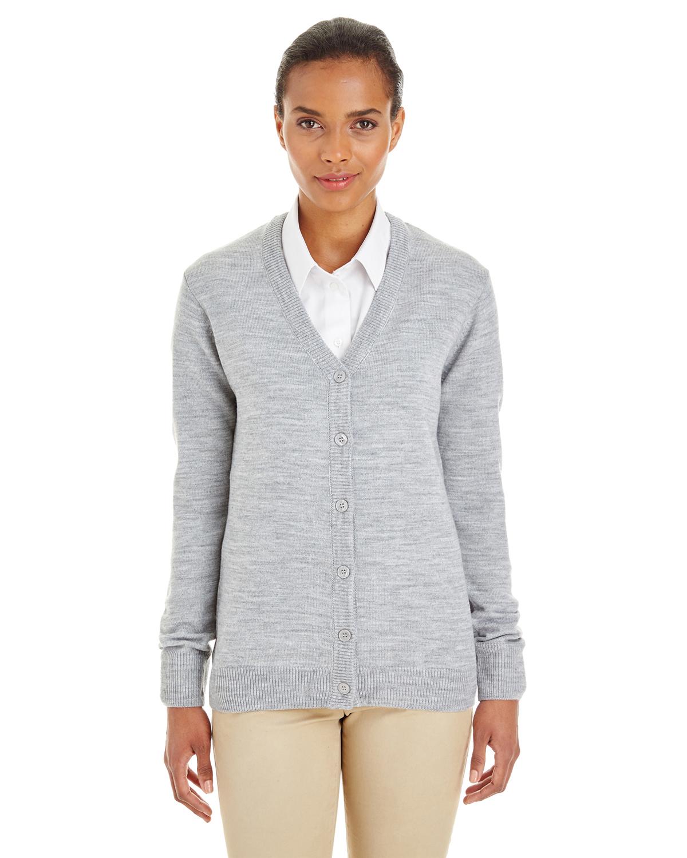 Harriton M425W - Ladies' Pilbloc™ V-Neck Button Cardigan Sweater