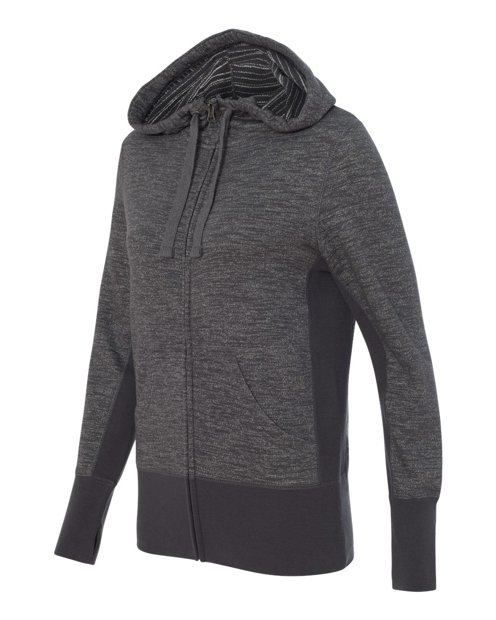 Independent Trading Co. PRM655BZ - Women's Baja Stripe French Terry Hooded Full-Zip Sweatshirt