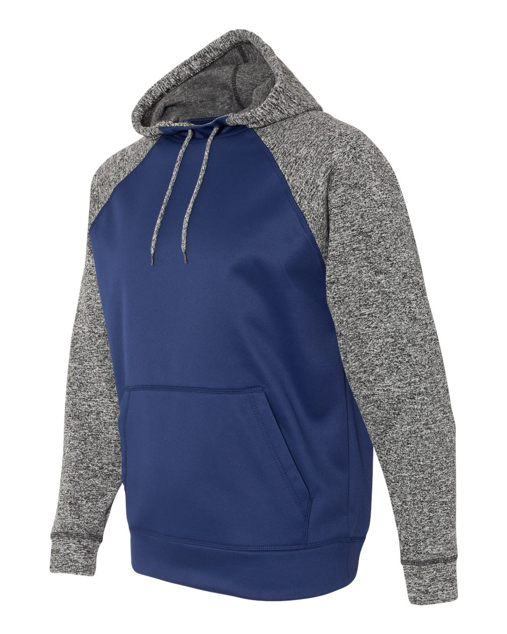 J. America 8612 - Colorblock Cosmic Fleece Hooded Pullover Sweatshirt