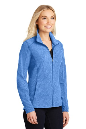 Port Authority® L235-Ladies Heather Microfleece Full-Zip Jacket