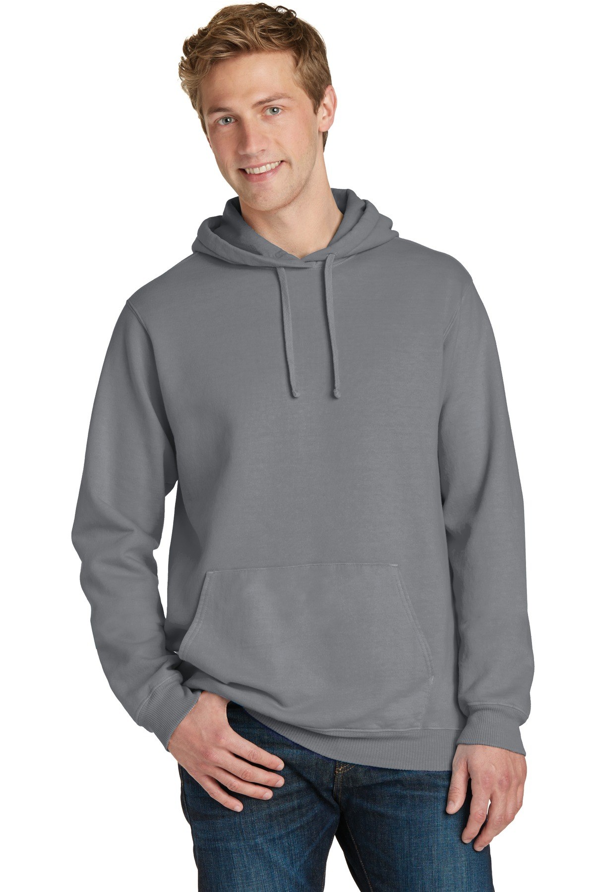 Port & Company  PC098H - Essential Pigment-Dyed Pullover Hooded Sweatshirt