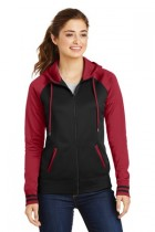 Sport-Tek® LST236 - Ladies Sport-Wick® Varsity Fleece Full-Zip Hooded Jacket