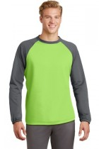 Sport-Tek® ST242 - Sport-Wick® Raglan Colorblock Fleece Crewneck