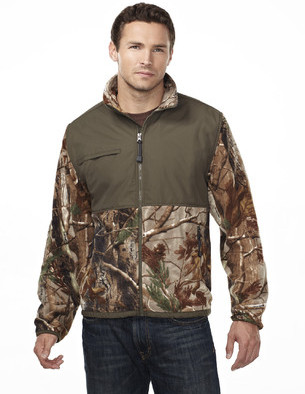 Tri-Mountain Performance 7450C - Frontiersman camo micro fleece jacket