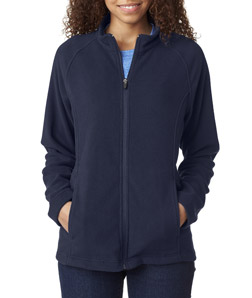 UltraClub 8181 - Ladies' Cool Dry Full Zip Micro Fleece