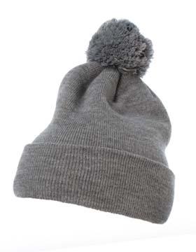 Yupoong 1501P - Cuffed Knit Beanie with Pom Pom