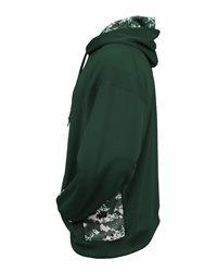 Badger 2464 - Digital Camo Youth Colorblock Performance Fleece Hooded Sweatshirt