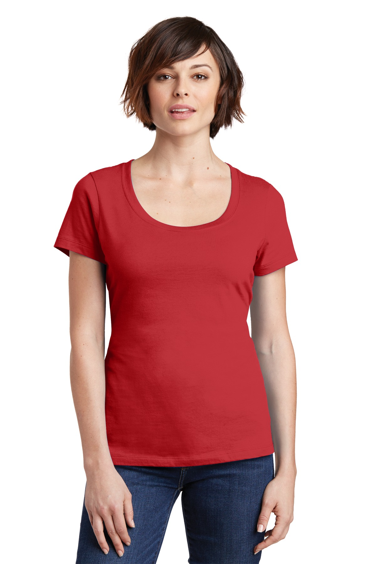 District Made  Ladies Perfect Weight  DM106L - Scoop Tee