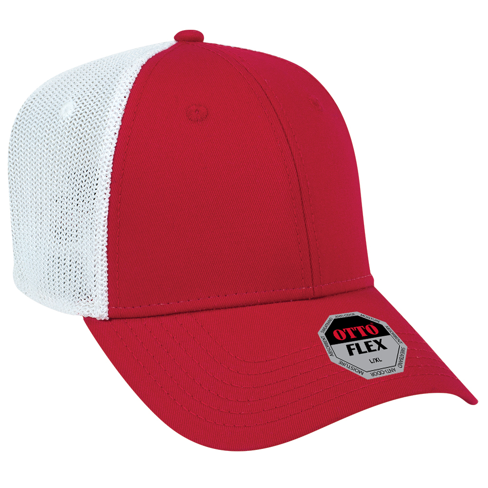 OTTO FLEX 135-1230 - SUPERIOR COTTON TWILL WITH STRETCHABLE POLYESTER MESH BACK LOW PROFILE STYLE CAPS