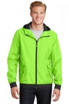 Sport-Tek® JST53 - Embossed Hooded Wind Jacket