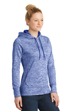Sport-Tek® LST225-Ladies PosiCharge® Electric Heather Fleece Hooded Pullover
