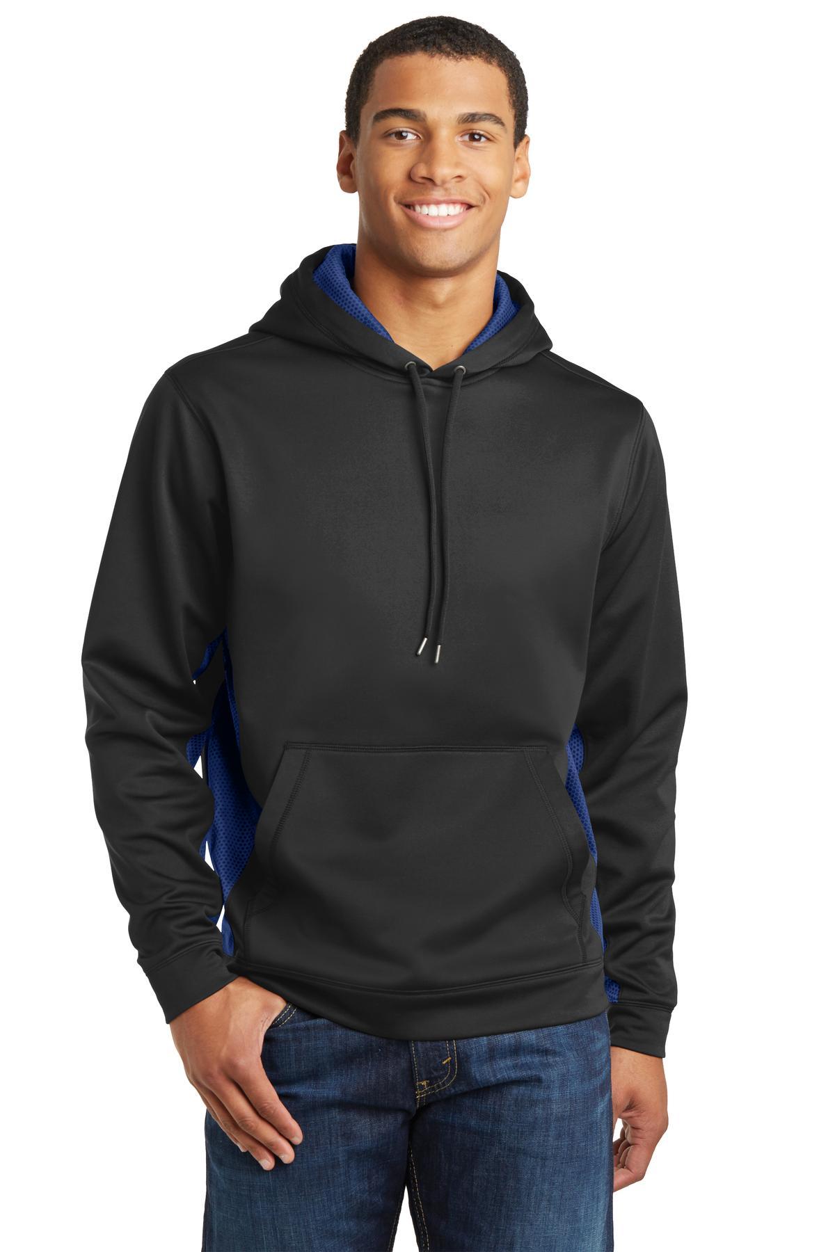 Sport-Tek  Sport-Wick  ST239 - CamoHex Fleece Colorblock Hooded Pullover