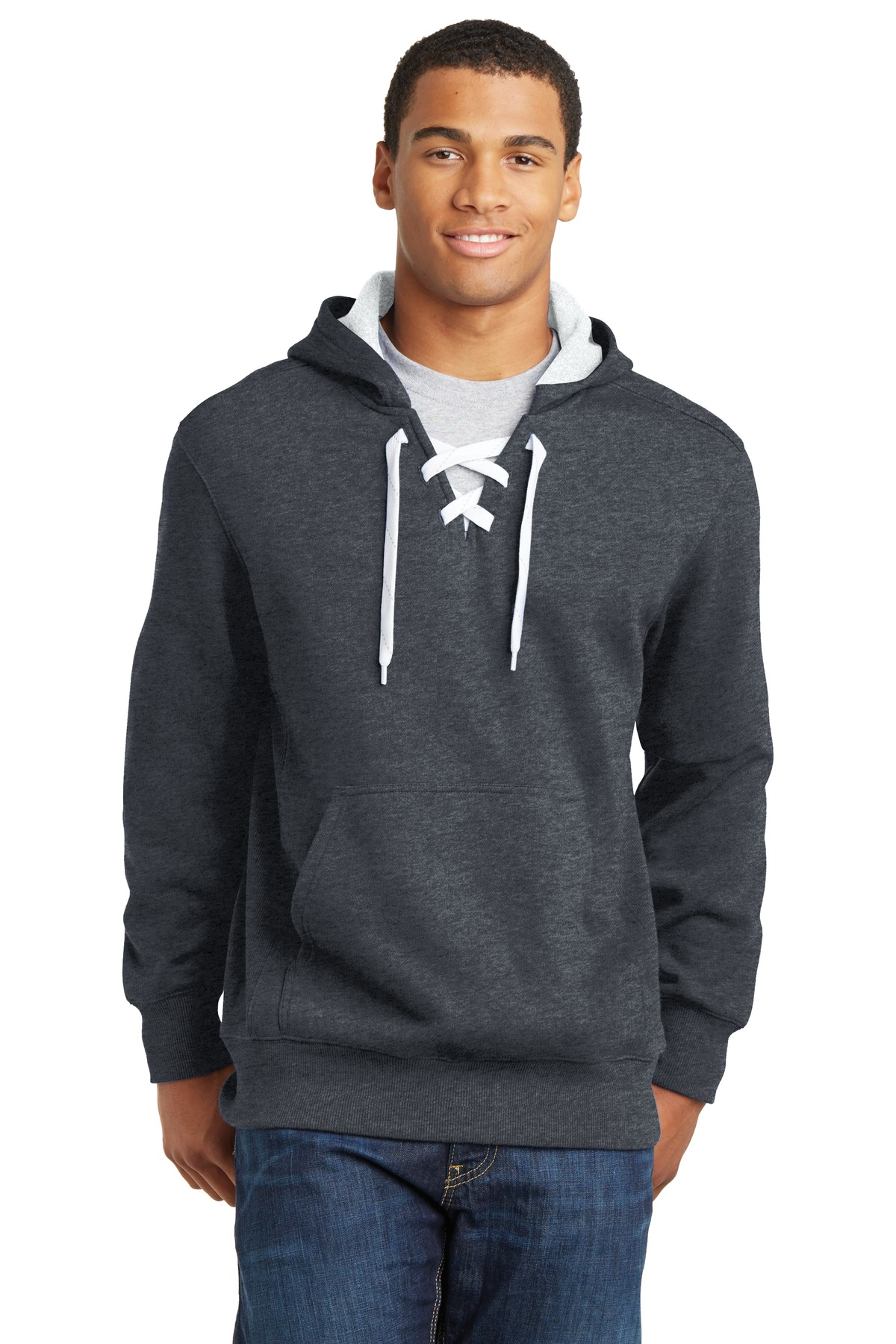 Sport-Tek® ST271 - Lace Up Pullover Hooded Sweatshirt