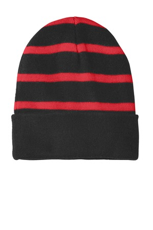 Sport-Tek® STC31 - Striped Beanie with Solid Band