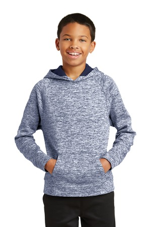 Sport-Tek YST225 - Youth PosiCharge Electric Heather Fleece Hooded Pullover