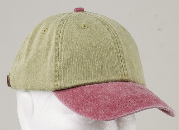Adams Caps LP102  6-Panel Low-Profile Washed Pigment-Dyed Cap