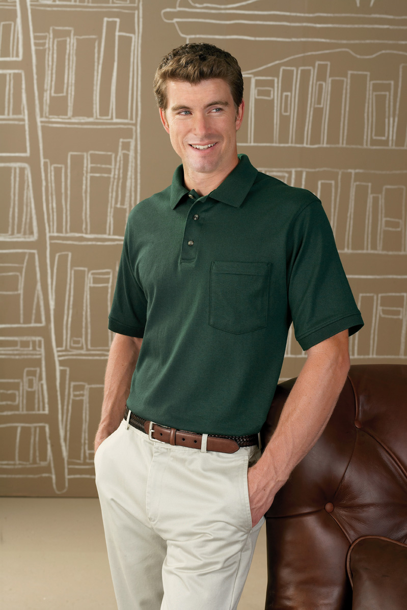 Anvil 4603-Stain Repel and Release Sport Shirt with Pocket