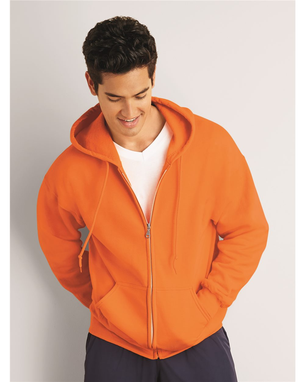 Gildan 12600  Ultra Blend Full Zip Hooded T-shirt.