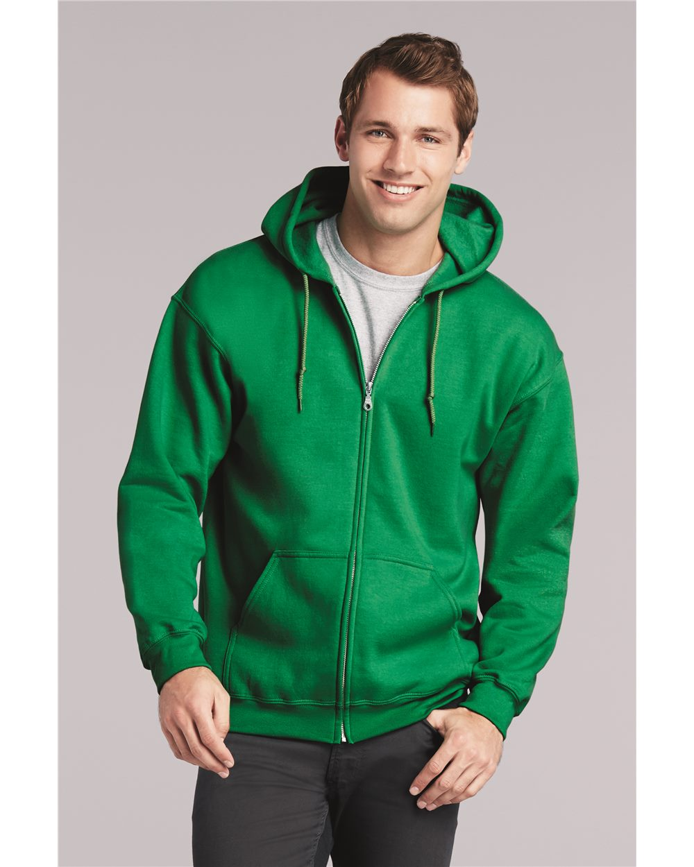 Gildan 18600-Heavy Blend Full Zip Hooded Sweatshirt.