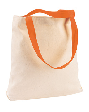 Harriton M910  Canvas Tote with Contrasting Handles