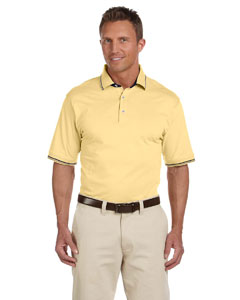 Harriton M140 Men's 5.9 oz. Short-Sleeve Jersey Polo with Tipping