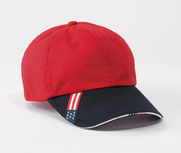 Harriton M840  Unstructured Cap with Sandwich Bill