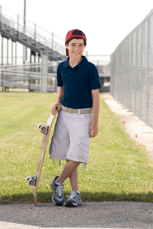 Harriton M200Y  Youth Short-Sleeve Piqu