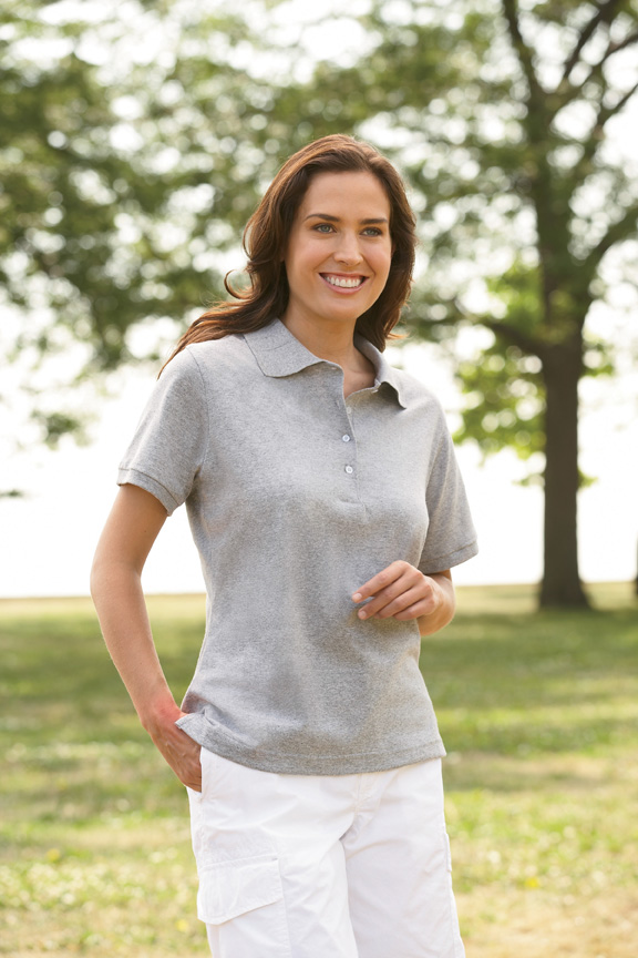 Jerzees 437W  Women's 5.6 oz., 50/50 Jersey Polo with ...