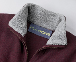 PlayBack 9905  Full-Zip Sweater with Sherpa-Lined Mock Neck