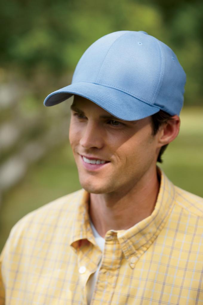 Flexfit 6590 有机拉绒斜纹布浅帽型帽子