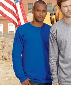 2955 Union Made: A Division of Bayside Adult Union Made Long-Sleeve Tee