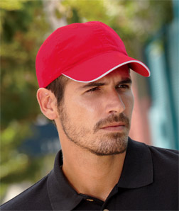 8104 UltraClub Classic Cut Chino Cotton Twill Unconstructed Sandwich Cap