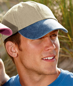 8141 UltraClub Classic Cut Two-Tone Pigment-Dyed Cap ...