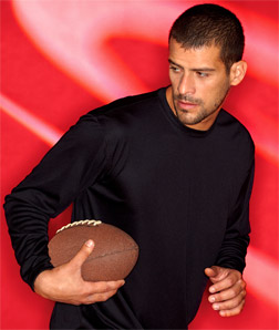 8422 UltraClub Adult Cool & Dry Sport Long-Sleeve Performance Interlock Tee