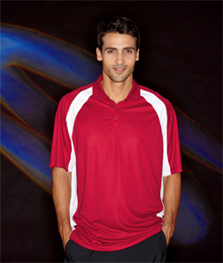 8427 UltraClub Adult Cool & Dry Sport Performance Color Block Polo