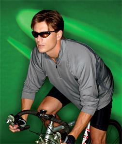 8432 UltraClub Adult Cool & Dry Sport Long-Sleeve 1/4-Zip