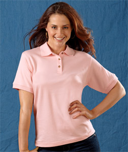 8506 UltraClub Ladies' Egyptian Interlock Polo