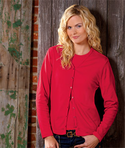 8508 UltraClub Ladies Egyptian Interlock Cardigan