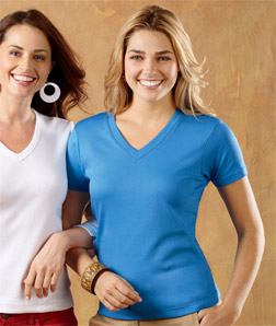 8513 UltraClub Ladies Egyptian Interlock Short-Sleeve ...
