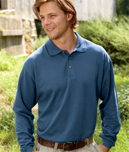 8532 UltraClub Adult Long-Sleeve Classic Pique Polo ...